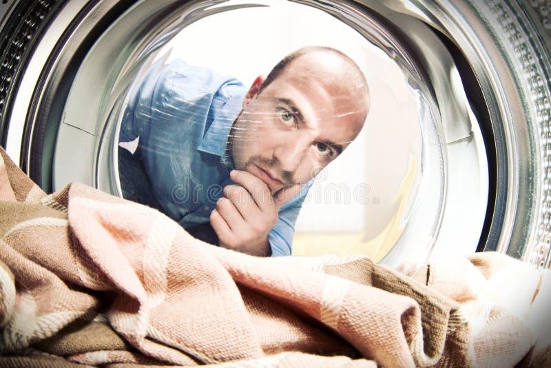 使用我的洗衣机 免版税库存照片