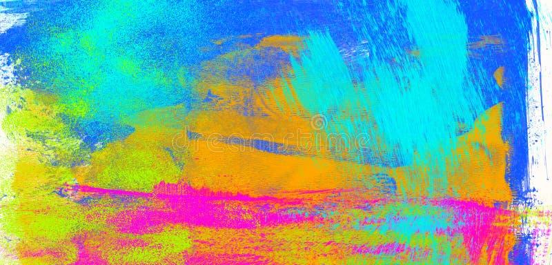 使用抽象纹理绘画的工作室绘画 免版税库存图片