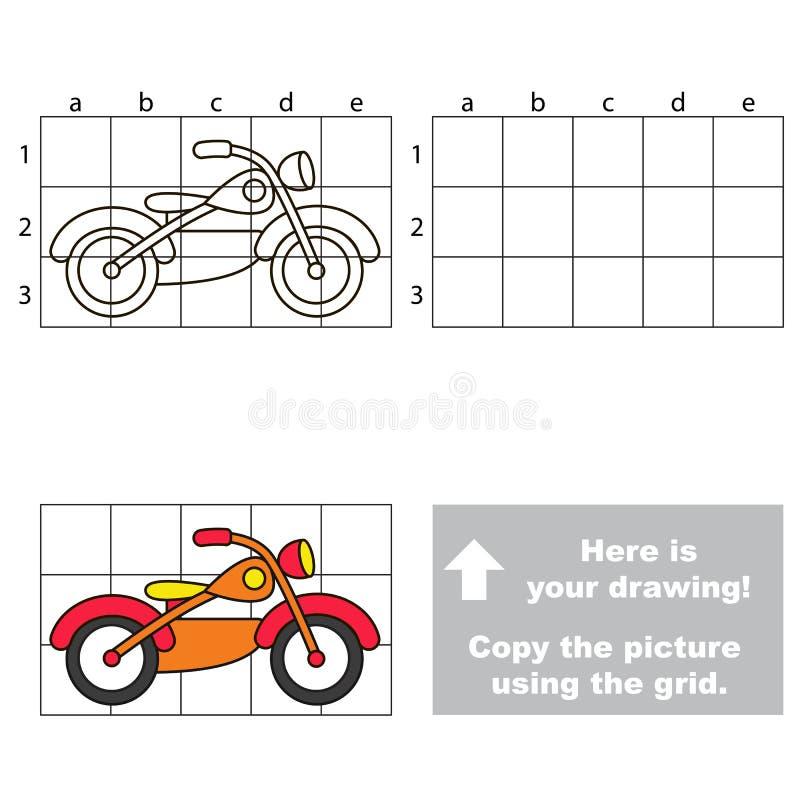 使用栅格,复制图象 摩托车 皇族释放例证