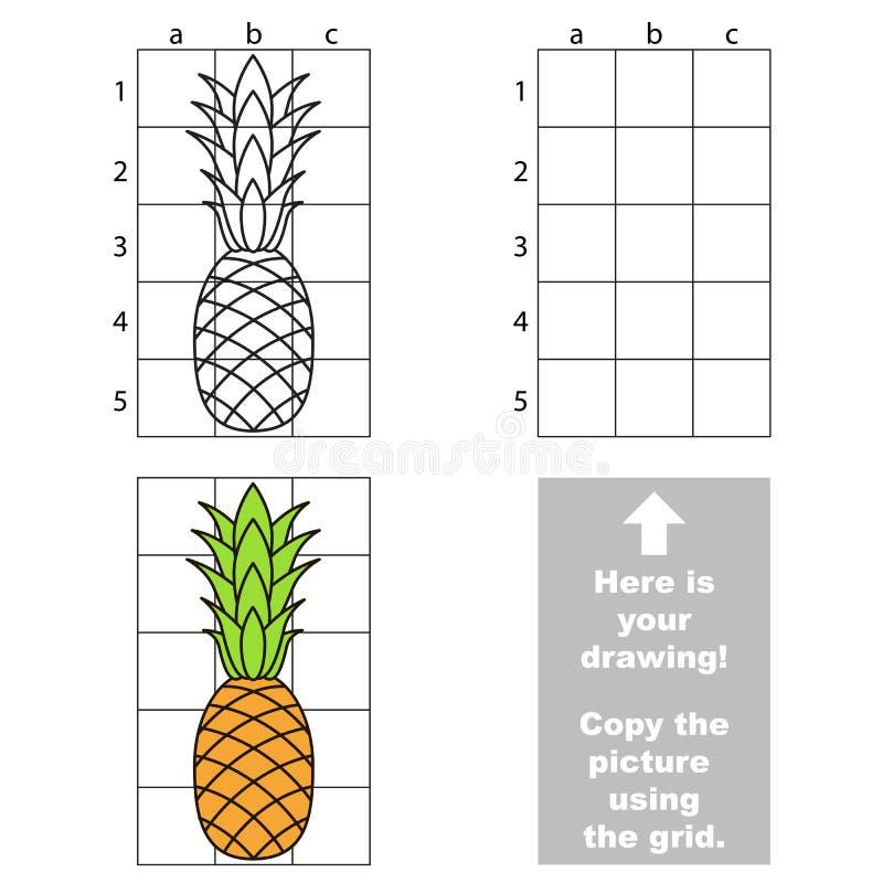 使用栅格,复制图象 菠萝 向量例证
