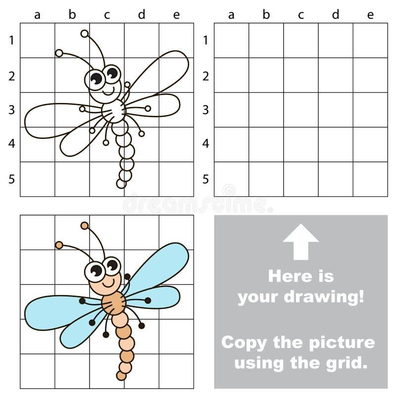 使用栅格,复制图象 蜻蜓 皇族释放例证