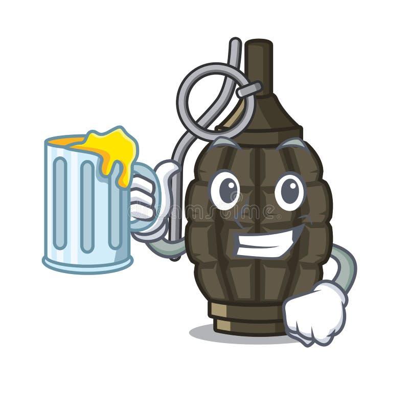 使用汁液在袋子的动画片手榴弹a 库存例证
