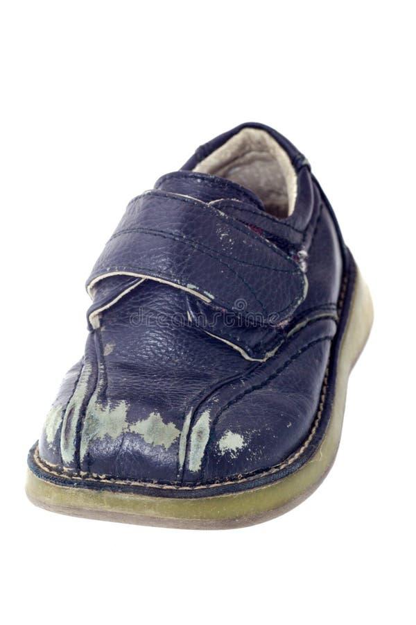 使用的儿童鞋子 免版税图库摄影