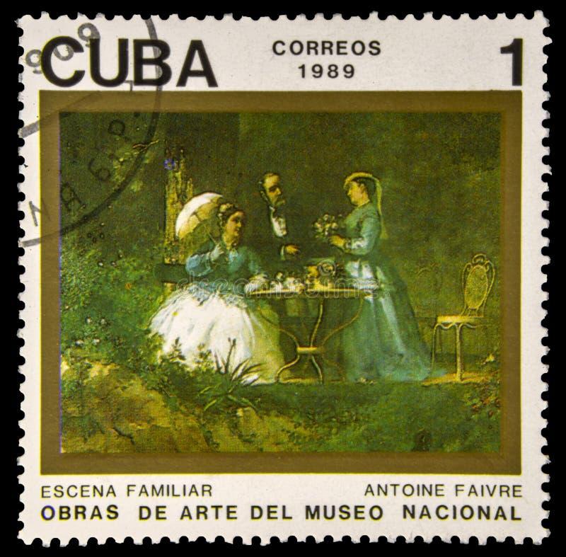 使用的古巴邮票 免版税库存图片