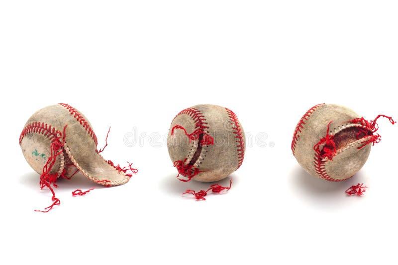 使用的地道棒球 免版税库存图片