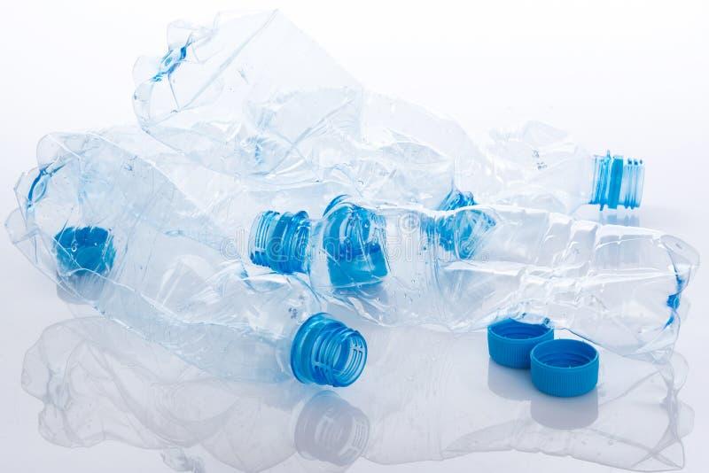 使用的塑料bootles 免版税库存图片