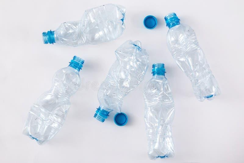 使用的塑料bootles 库存照片