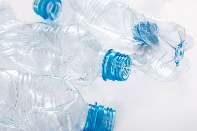 使用的塑料bootles 库存图片