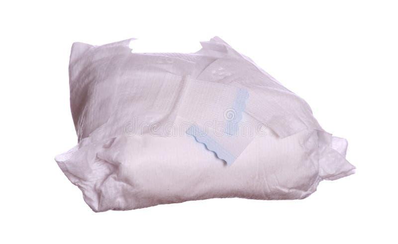使用的尿布 库存照片