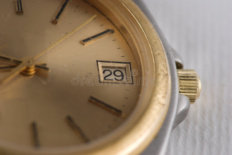 使用的手表 库存图片