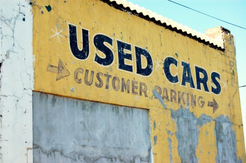 使用的汽车 免版税库存照片