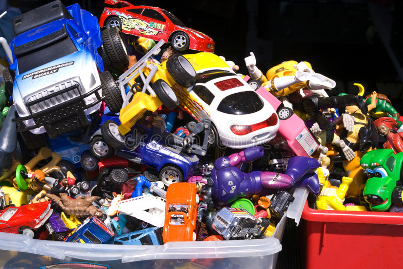 使用的玩具 库存照片