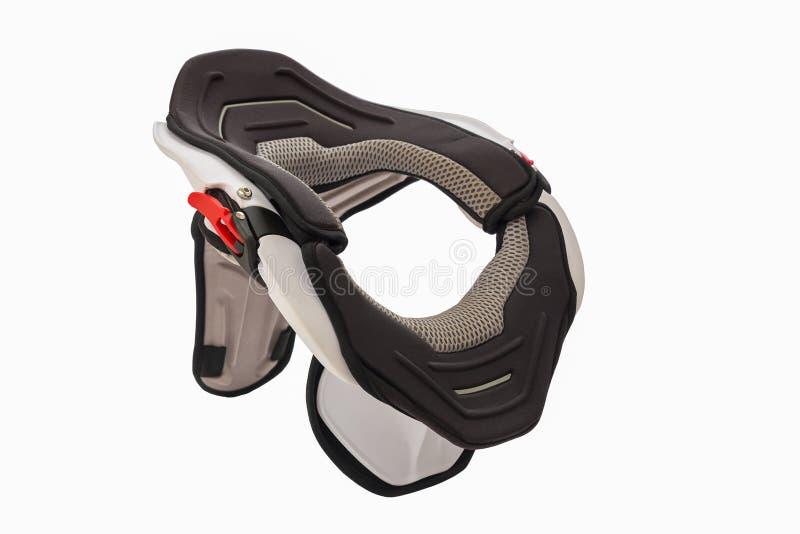 使用的白色自行车护颈垫 免版税库存照片