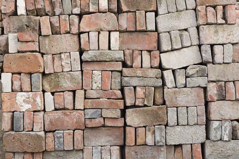 使用的砖 免版税库存照片