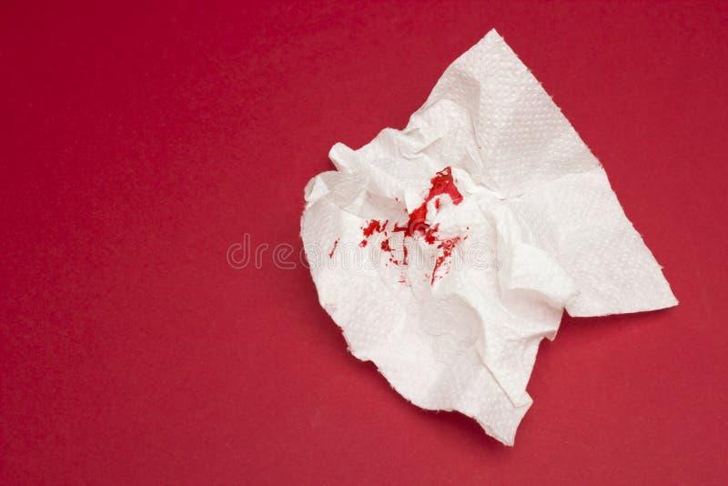 使用的血淋淋的卫生纸照片 血液下落和踪影 痔疮,便秘治疗健康问题