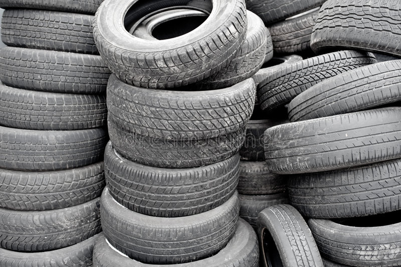 使用的许多轮胎 图库摄影