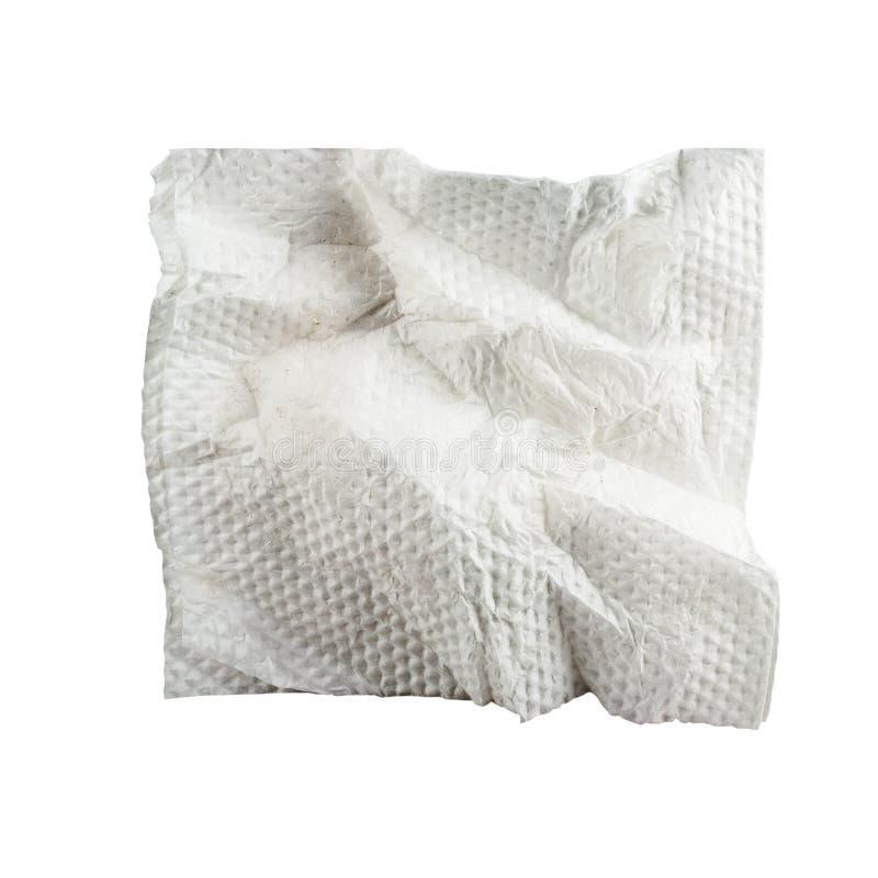 使用的餐巾。 库存照片