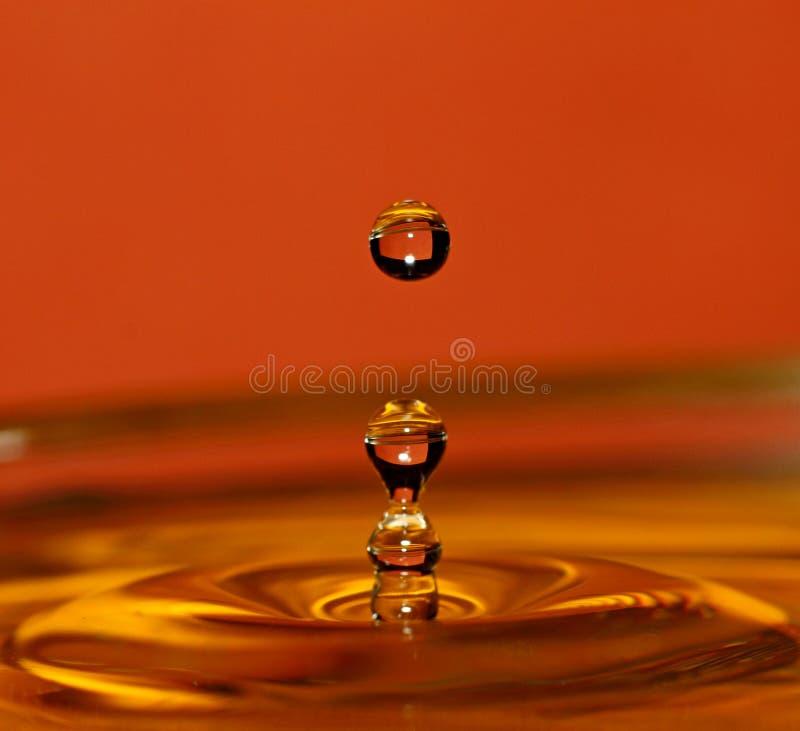 使用水的背景可能的飞溅 免版税库存图片