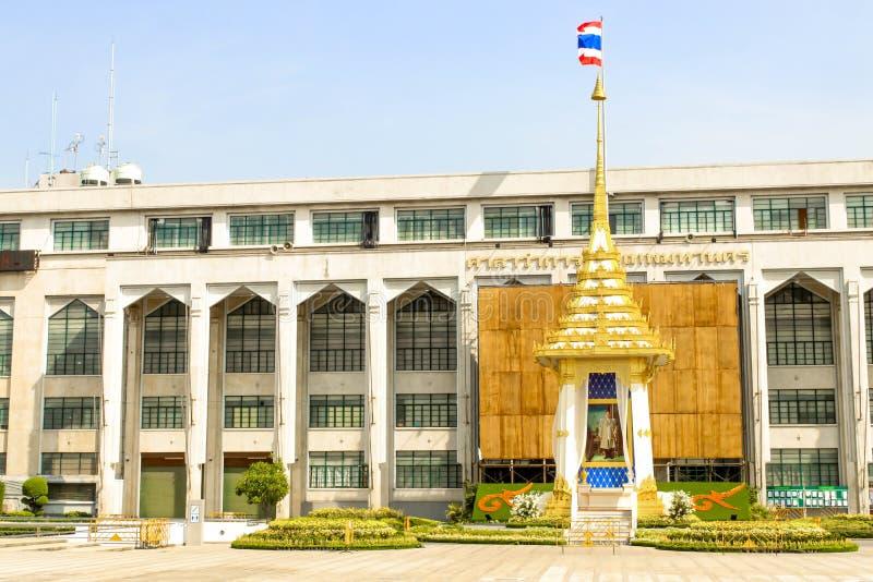 使皇家火葬场复制品环境美化在曼谷城市居民管理 库存照片