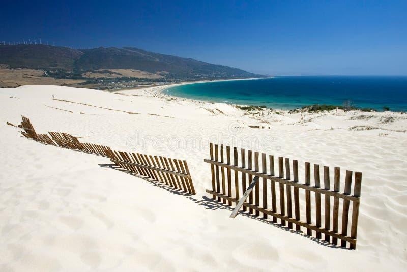 使离开的沙丘范围老含沙停留靠岸 免版税库存照片