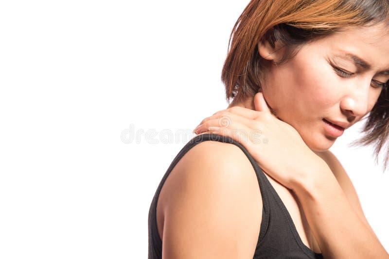 使肩膀痛苦 库存图片