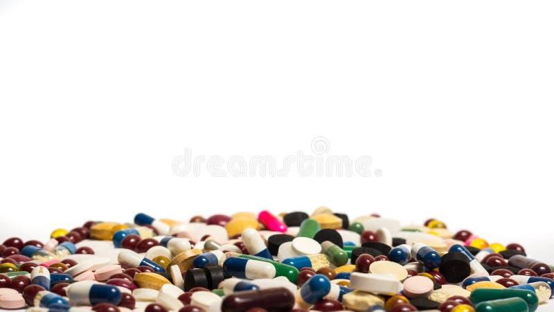 使药片服麻醉剂 免版税库存照片