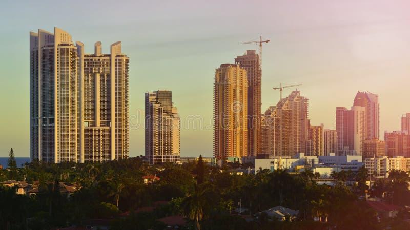 使迈阿密地平线靠岸 免版税图库摄影