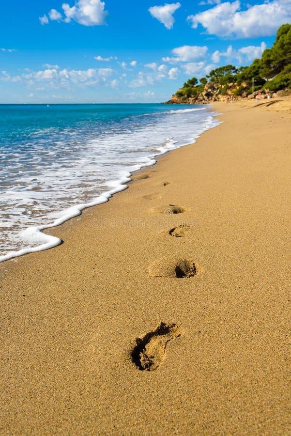 使迈阿密Playa,西班牙,与蓝天的夏令时靠岸 图库摄影