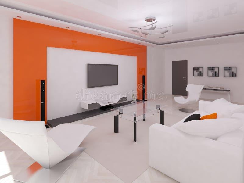 侈奢的客厅 向量例证