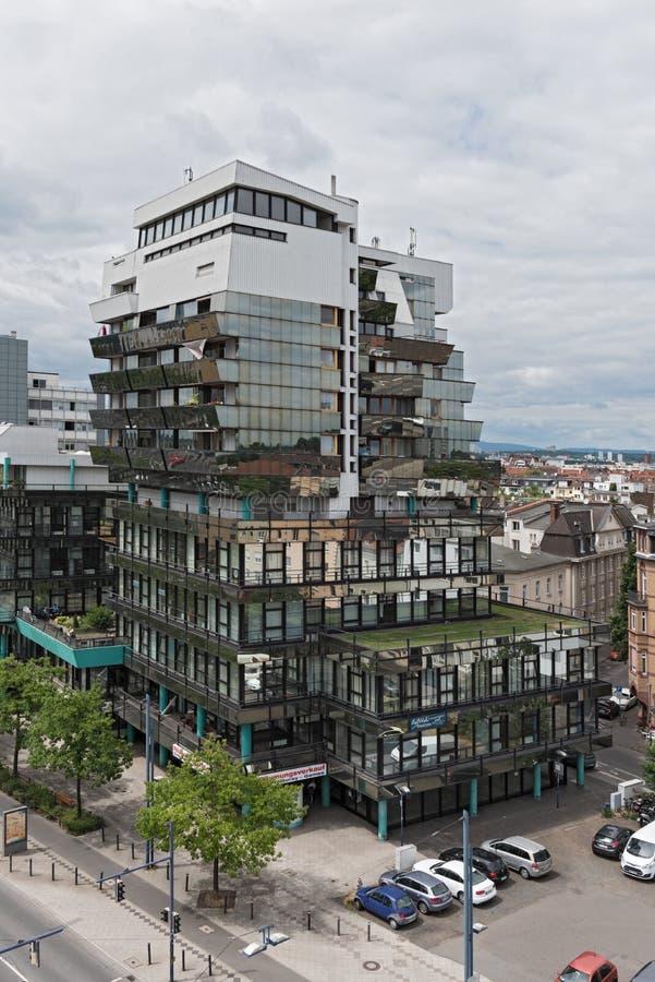 例外办公室和商业大厦在offenbach上午主要,黑森,德国 库存照片