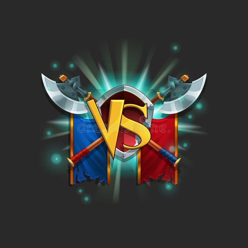 例子比赛装货水平用户界面  与徽章的窗口胜利 向量例证