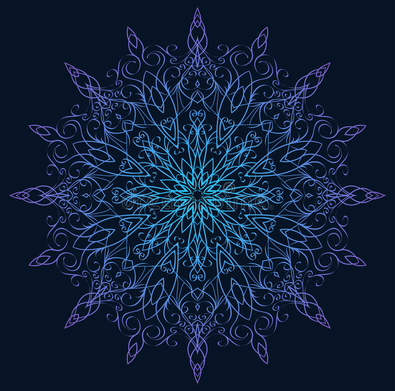 Download 例证与卷毛的葡萄酒雪花 向量例证. 插画 包括有 模式, 装饰品, 艺术, 水晶, 看板卡, 计算机, 有花边 - 62538255