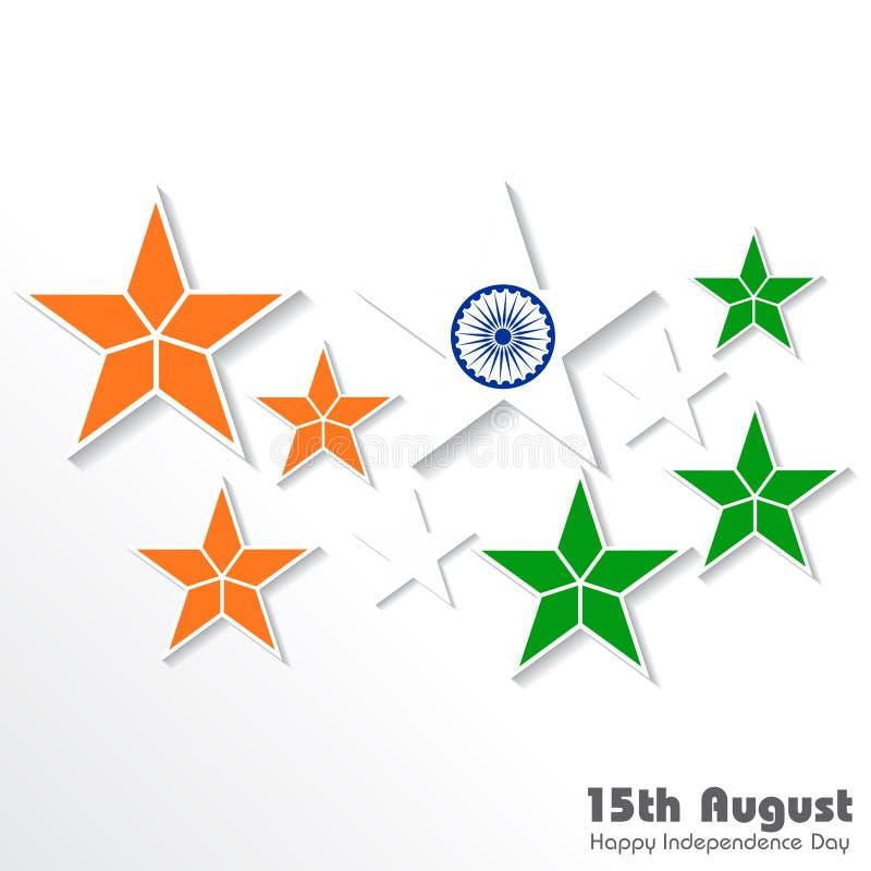 例证为印度的独立日 库存例证