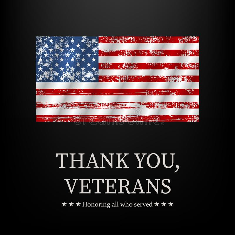例证为退伍军人日,谢谢,向量图形 库存照片