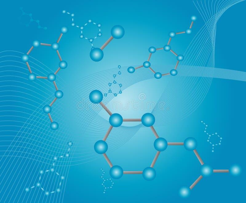 例证分子 库存例证