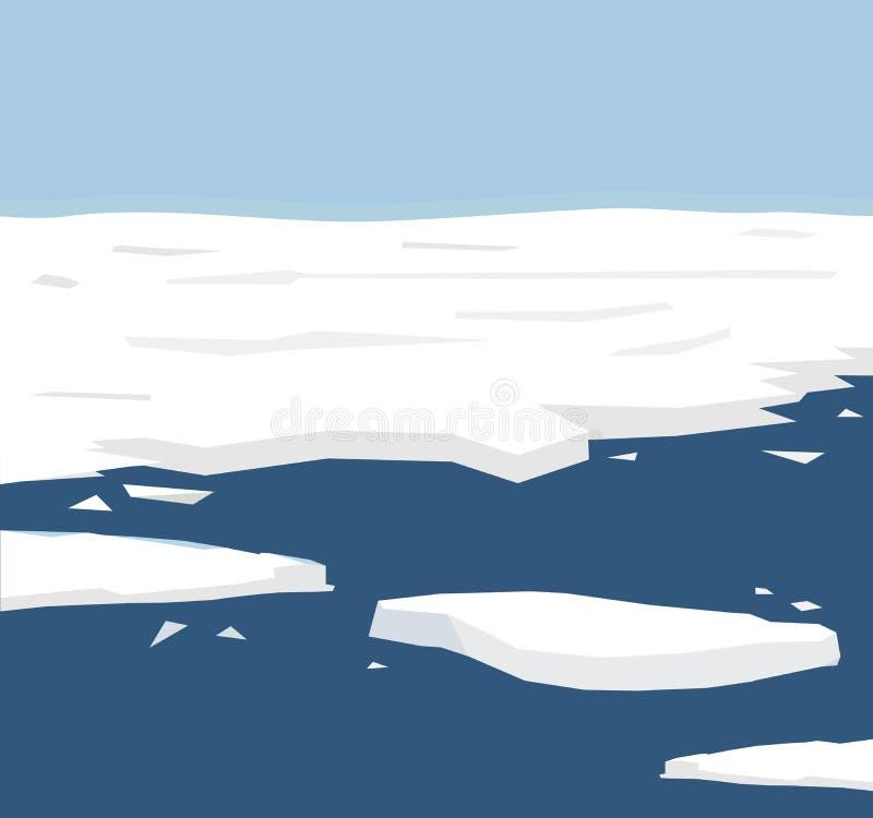 例证反射极性冰融解,冰的当前环境问题经常熔化背景,解决 向量例证