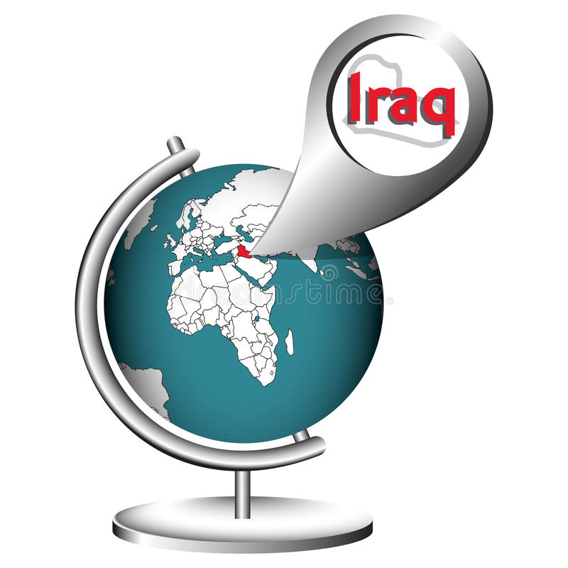 例证向量图形地球伊拉克 库存例证