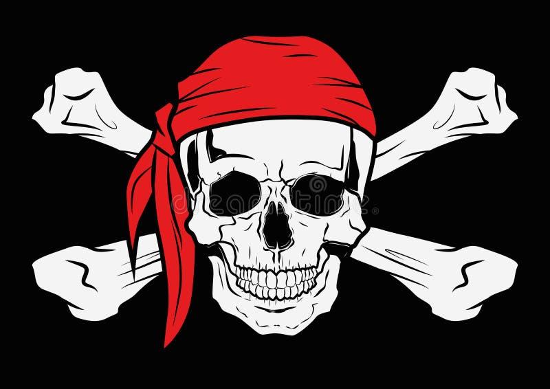 例证向量图形头骨海盗 皇族释放例证