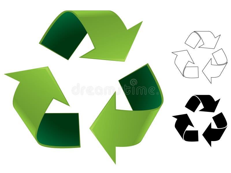 例证回收符号 向量例证