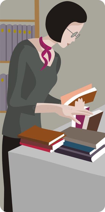 例证图书管理员 库存例证