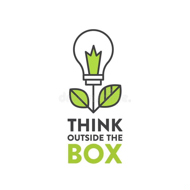 例证在箱子概念,想象力,聪明的解答之外认为 皇族释放例证