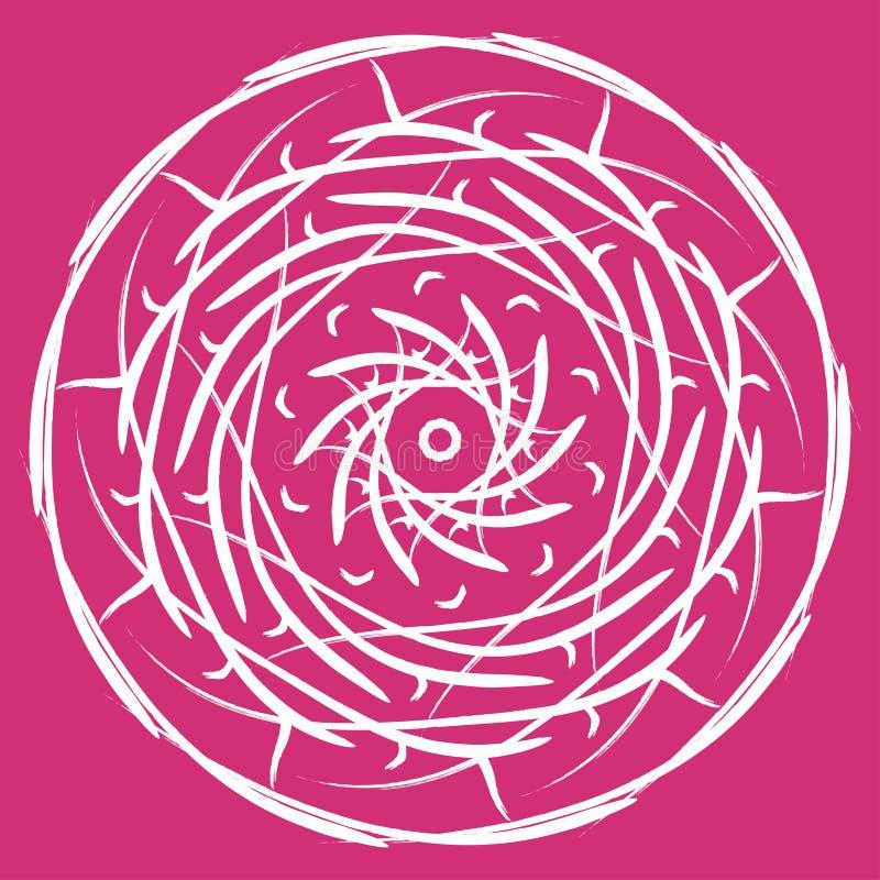 例证坛场来回装饰品的模式 圆的摘要花卉东方样式,葡萄酒装饰元素 向量例证