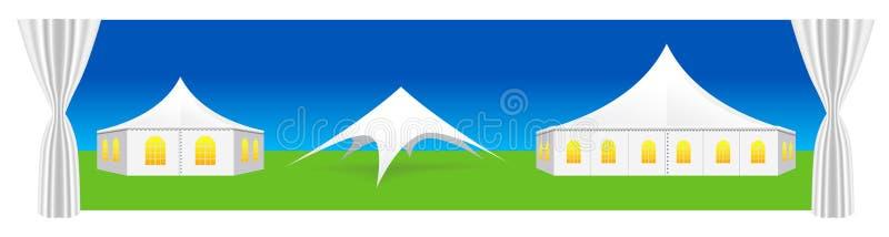例证帐篷向量 库存例证