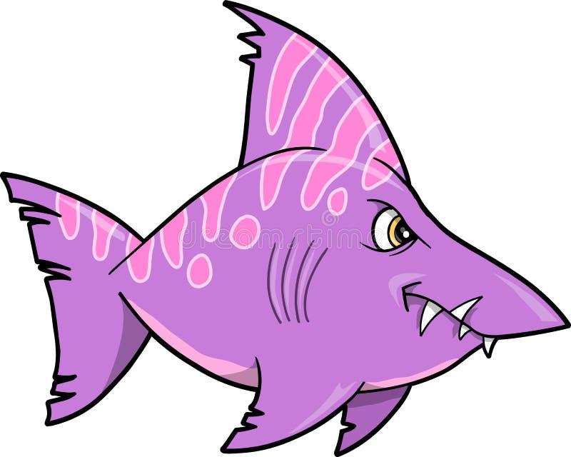 例证平均鲨鱼向量 皇族释放例证