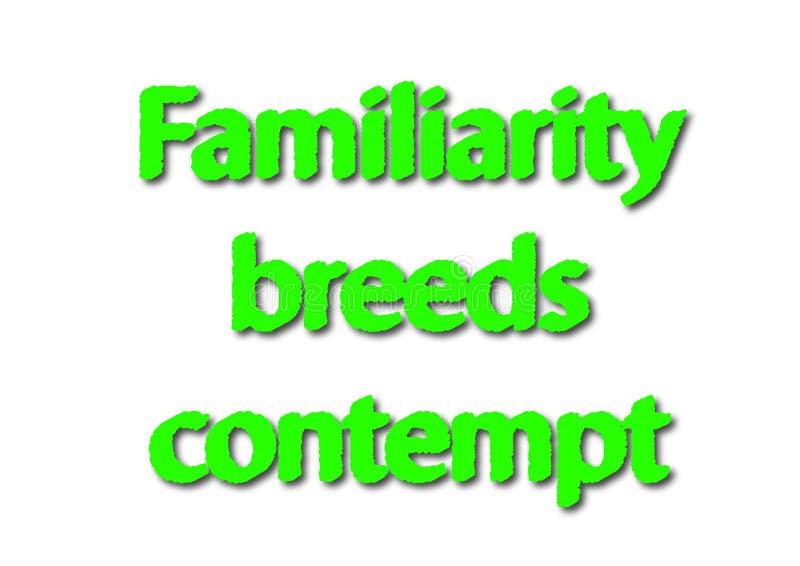 例证成语写熟悉品种被隔绝的蔑视  向量例证