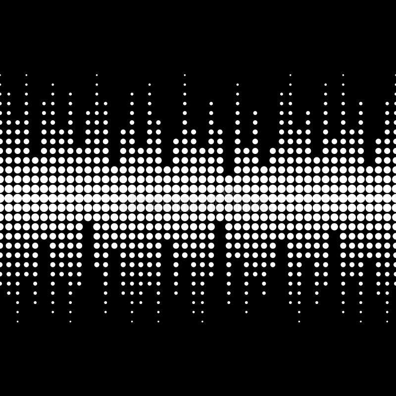 例证无缝合理的纹理盖瓦通知 传染媒介单色无缝的样式 向量例证