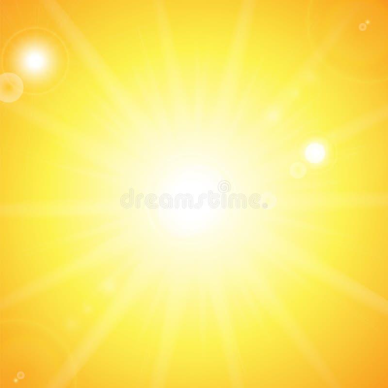 例证星期日光束向量 库存例证