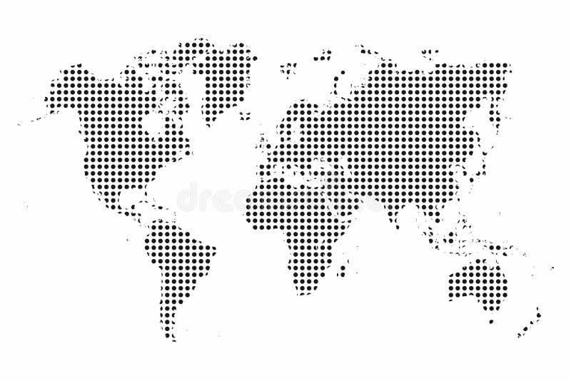例证映射旧世界 世界地图小点 流行艺术样式背景 皇族释放例证