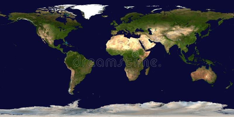 例证映射旧世界 大陆和海洋 皇族释放例证