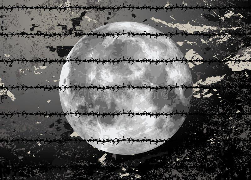 例证月亮光栅 向量例证